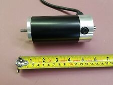12/24V DC MOTOR WITH SERVICEABLE BRUSHES, REVERSIBLE, DOUBLE SHAFT.