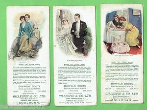D152-RARE-SET-OF-SIX-OLD-INK-BLOTTERS-GILLESPIE-amp-Co-GOULBURN-NSW