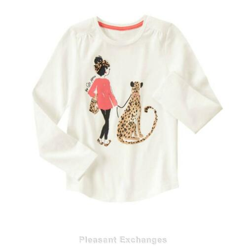 NWT Gymboree 5 6 RIGHT MEOW 2pc Girls Walking Leopard Cat Gem Top /& Ponte Pants