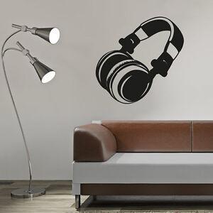 Wandtattoo-Kopfhoerer-DJ-Disco-Lounge-Musik-Aufkleber-Wall-Art-Wand-Tattoo-2088