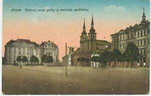 CSSR-1910-Very-Fine-Used-postcard-Jihlava-Iglau-nouvelles-constructions-et-ville-caisse-d-039