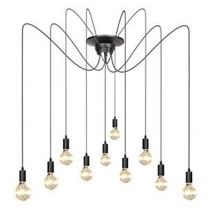 Edison Vintage Industrial Loft Spider Chandelier Pendant Ceiling Light Lamp DIY&