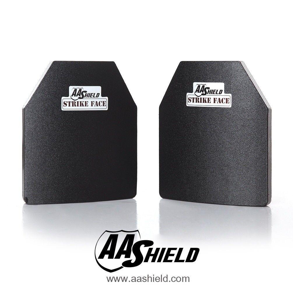 AA Shield Bulletproof Panel Body Armor Insert Hard Plate Lvl III3 10x12 Cut Pair