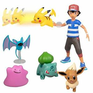 Pokemon-Battle-Figure-Six-Pack-Set-Launching-Action-Ash-Pikachu-Bulbasaur-Eevee