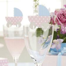 10 Tiny Feet Vino Bicchiere nome segnaposto Baby Shower Battesimo Festa di Compleanno