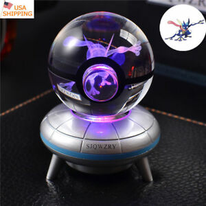 Pokemon Elf Squirtle 3D LED Crystal Night Light Table Lamp USB Bedroom Gift