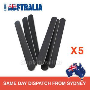 5-x-Professional-Acrylic-Gel-Natural-Nail-File-100-180-Black-Straight-Buffer