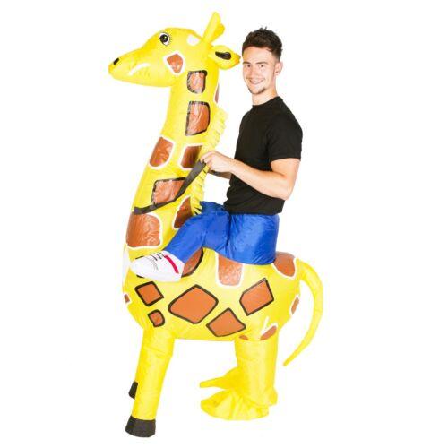 Adult Mens Ladies Womens Inflatable Animal Giraffe Fancy Dress Costume Halloween