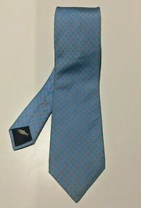 HERRINGBONE-Light-Blue-Patterned-Tie-8-5cm-Width-100-Silk-Made-in-Italy