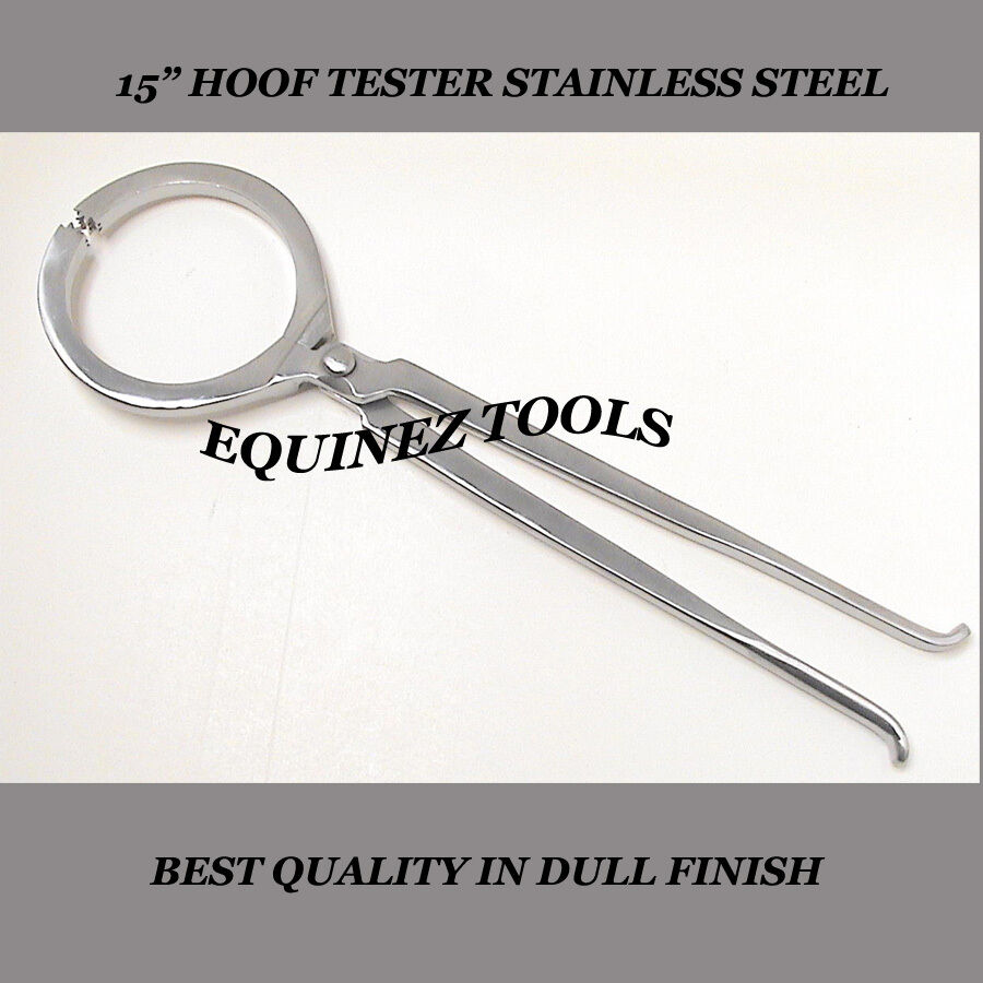 Hoof Tester, Large 15 , Hand Crafted, Stainless Steel, Farrier Horse