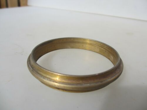 """Original Antique Brass Curtain Pole Loop Ring Vintage Old French 2.75/""""W  £3 each"""