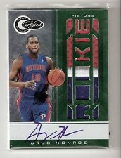 GREG MONROE 10/11 certified green patch auto RC #161 SN #5/5