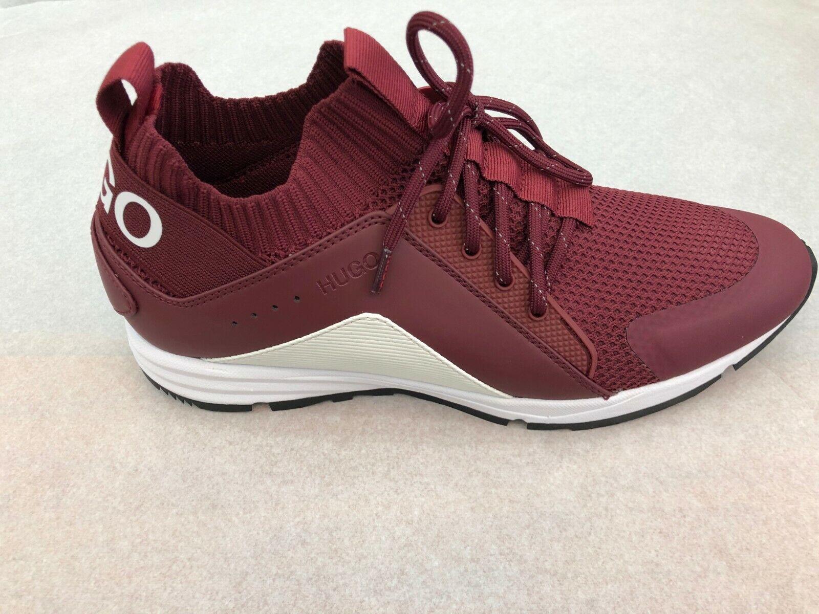 BOSS HUGO BOSS Men's scarpe da ginnastica Hybrid Runn Knmx In 601 Dk rosso