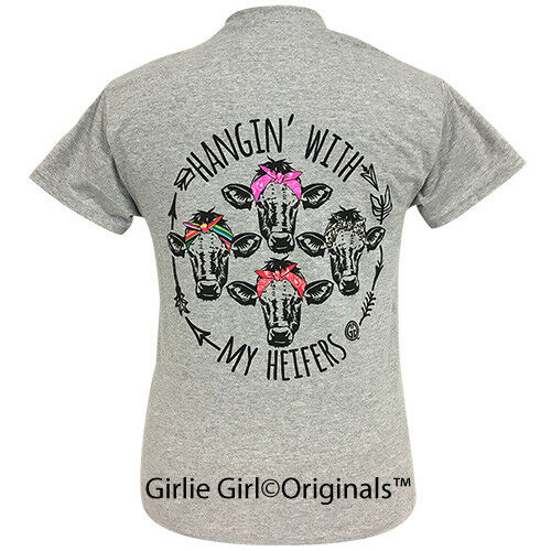 Girlie Girl Originals Tees My Heifers Sport Grey Short Sleeve T-Shirt