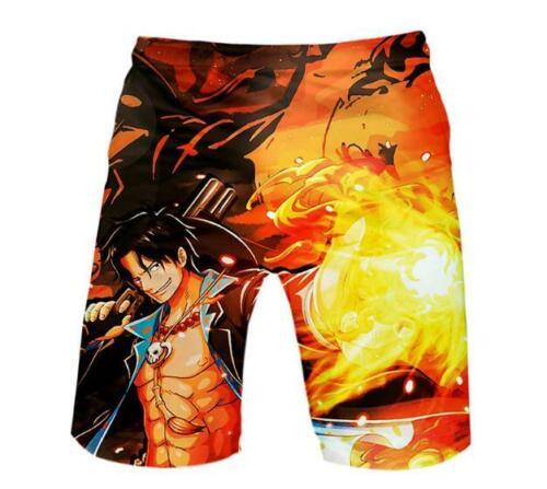 One Piece D.Ace Cosplay Anime Manga kurze Hose Strand Beach Shorts Boardshort