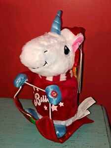 Gemmy-Singing-Animated-Unicorn-CHER-Believe-Christmas-Riding-on-Sled-NWT-WOW