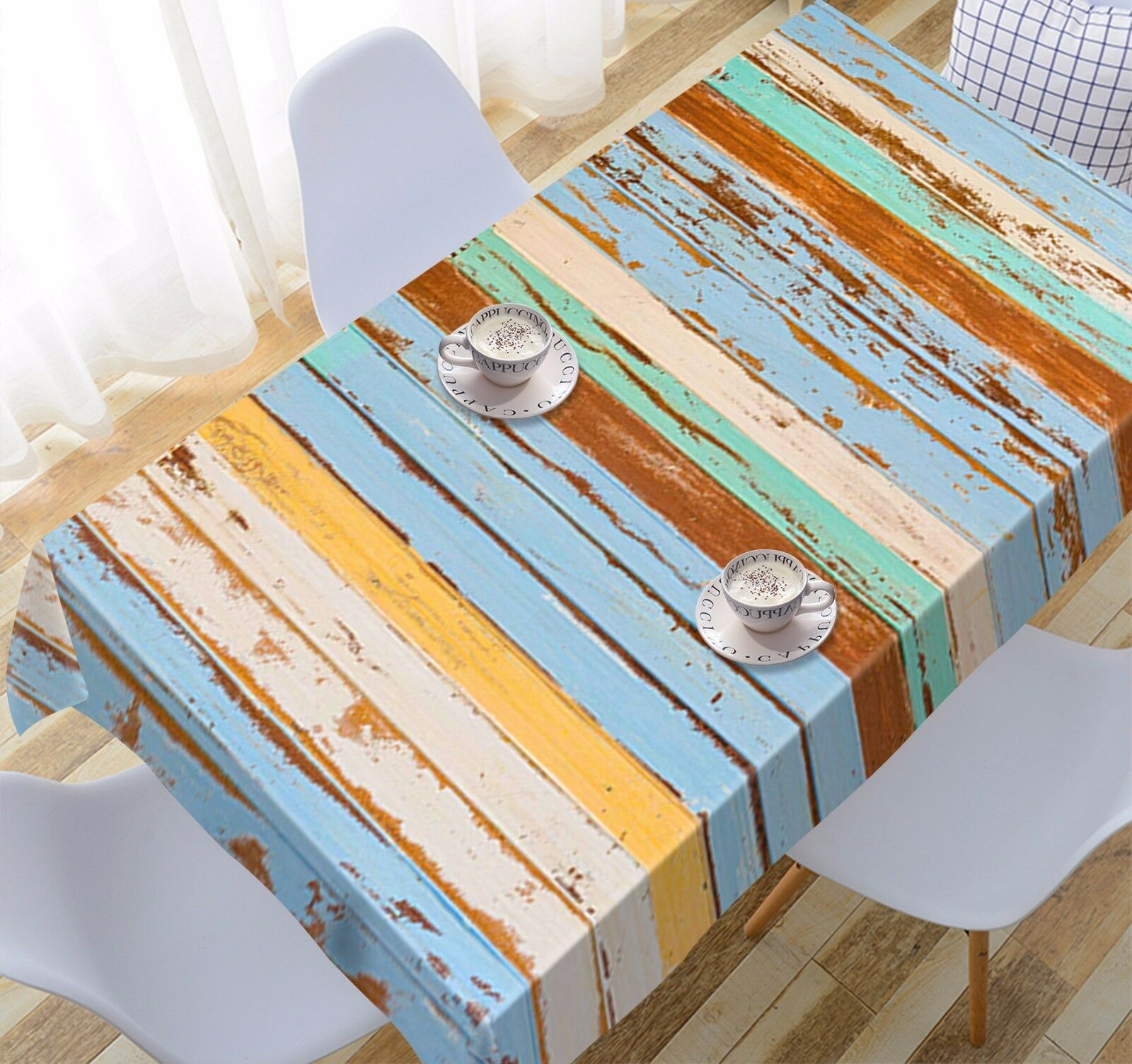 3D Farbe wood9 Tablecloth Table Cover Cloth Birthday Party Event AJ WALLPAPER UK