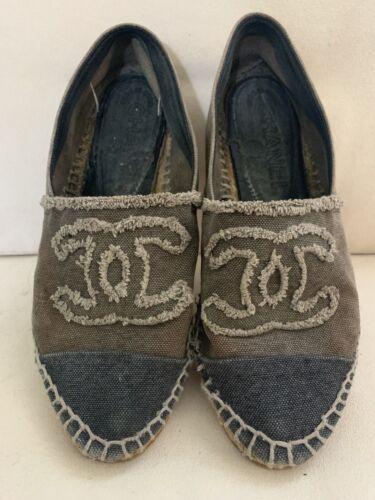 Chanel Espadrilles Shoes Size 8 Bad Shape