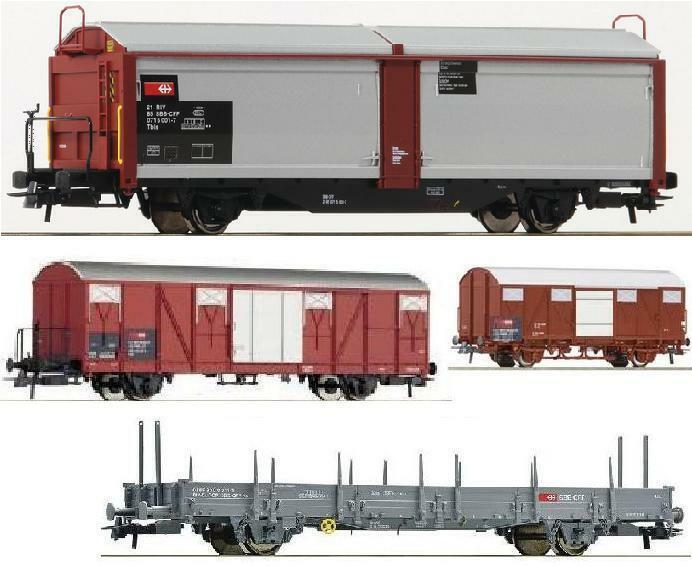 Roco h0 76898 67800 66360.b 67482.a vagones TBIS GBs GS KS 896-9 SBB ep.5 nuevo