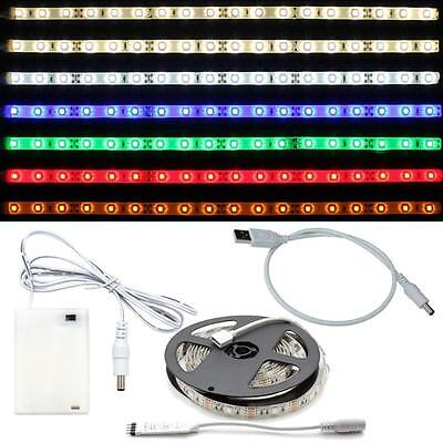 2m LED Streifen Strip Licht Leiste RGB 5V Stecker Batteriebox USB-Kabel
