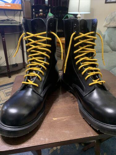 Solovair 11i Steel Toe Derby Boots Black Leather U