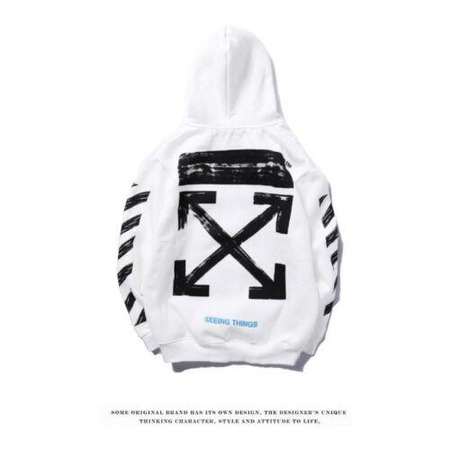 Off White Hoodie Graffiti Pfeil Skizze Diagonale Streifen Sweatshirt Mit Kapuze