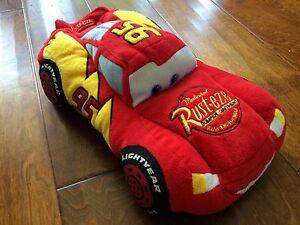 "Disney Parks Cars #95 Rust-eze Lightning McQueen 15"" Red Plush Car w/ sounds"