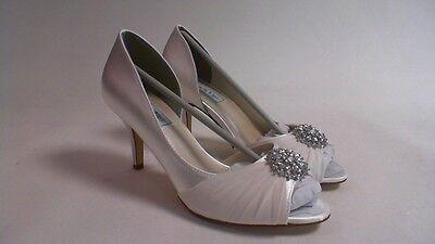 Retoques Boda Zapatos-Blanco-Helen-US 8 M UK 6 #27E350
