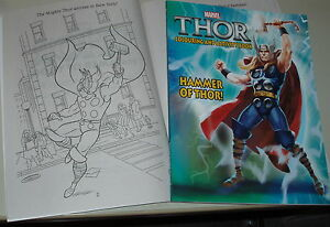 marvel thor coloring activity book hammer of thor plus more