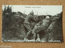 Vintage Postcard: British Machine Gunners Wearing Gas Helmets, Daily Mail