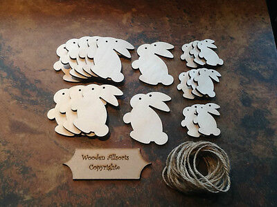Xmas Decor Craft 60x60mm 4mm Birch With Twine 10x Wooden Snowmen Bauble Shapes
