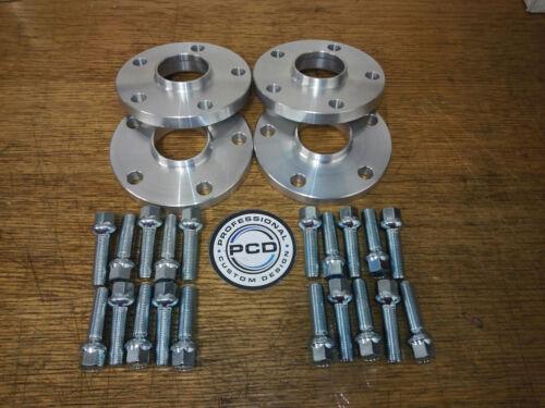 2 par Separadores Hubcentric 5x112 30mm de ancho 57.1CB 10 Pernos De Rueda VW AUDI UK Made