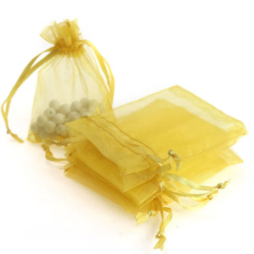 100//200 pcs Organza Wedding Party Favor Decoration Gift Candy Sheer Bags Pouches