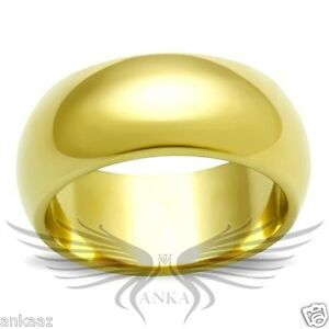 Women S Yellow Gold Plated Classy Wedding Band Ring Wide