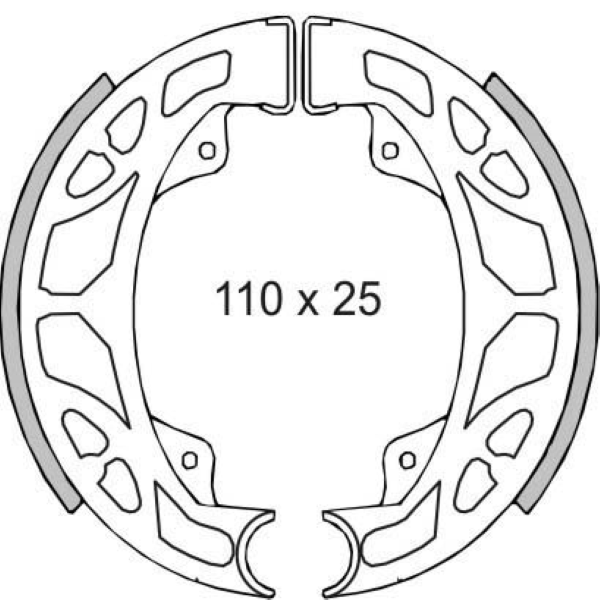 Zapatas de Freno Trasero Piaggio Zip 125 2000> RMS