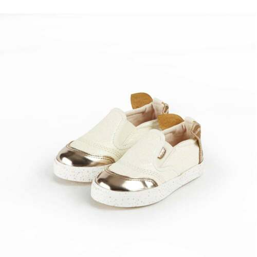 Cream Slip On Shoes Trainers 4356 Kickers Girls/' Tovni Fairee Infants Mary Jane
