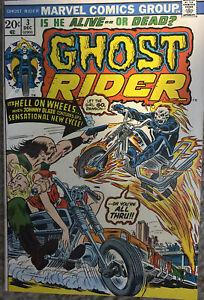 GHOST RIDER #3 (MARVEL 1973) - Son Of Satan , Hellfire Cycle