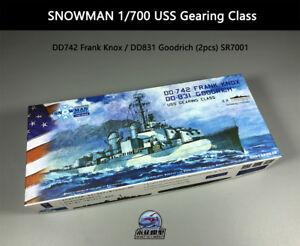 SNOWMAN-1-700-USS-Gearing-Class-DD742-Frank-Knox-DD831-Goodrich-2pcs-SR7001