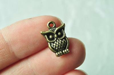 Owl Charm Pendant Vintage Necklace Accessory Steampunk Punk Handmade Craft Retro