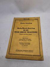 Mccormick Deering 10 20 Parts Catalog Tc 1 D