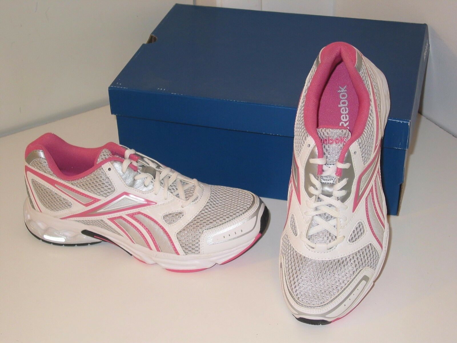 Reebok Instant Running Cross Training Silver Pink Mesh Sneakers Schuhes Damenschuhe 6