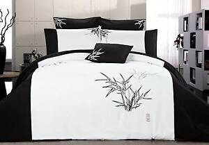 Queen-size-Bella-Bamboo-quilt-cover-set-doona-cover-3pcs-oriental-Duvet-cover