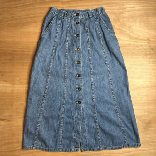 Vintage Lizwear Women's Petite Size 6 Denim Butto… - image 1