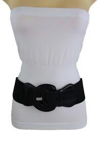 Chaud Large Mode Ceinture Noire Extensible Hip Taille Haute Simili ... 9e5873c9e1e