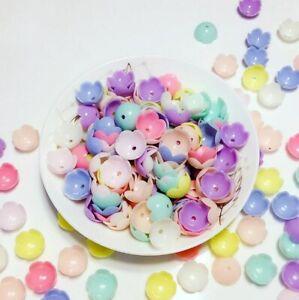 100pcs-Acrylic-bead-flower-Spacer-Beads-Caps-Handmade-diy-beaded-accessories