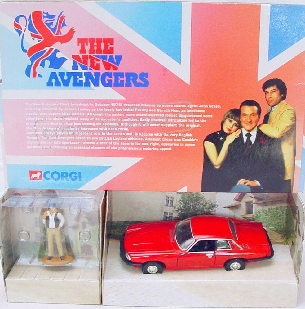 Corgi Toys 1 36  THE NEW AVENGERS  JAGUAR XJS TV Movie Model Car MIB`00