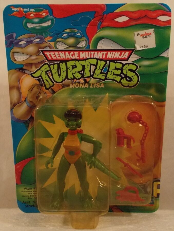 Teenage Mutant Ninja Turtles TMNT 1993 - Mona Lisa Lizard Lady Playmates (MOC)