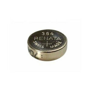 #384 (SR41SW) Renata Mercury Free Watch Batteries - Strip of 10