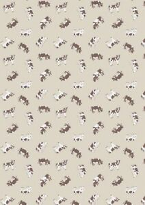Small-Things-Farm-Cows-Light-Brown-Cotton-Quilting-Sewing-Fabric