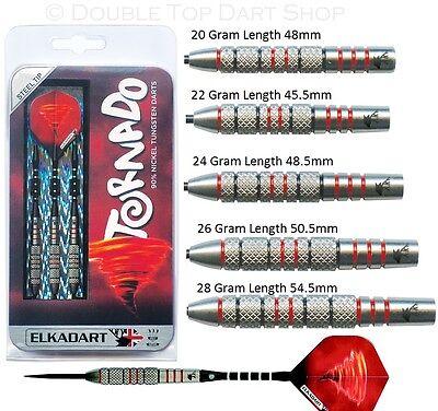 20g 22g 24g or 26g Ringed ElkaDart Excalibur 80/% Tungsten Steel Tip Darts